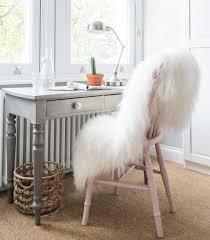 sheepskin decorating chair