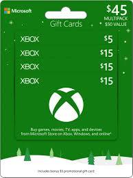 Microsoft Giftcard Microsoft 50 Xbox Gift Card Multipack