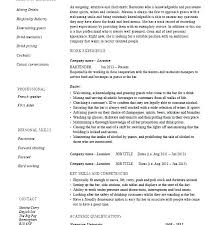 Example Bartender Resume Extraordinary Sample Bartender Resume Skills Manager Fullofhell