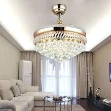 ceiling fan chandelier suppliers modern quiet ceiling fans crystal chandelier light remote control folding fan lamp