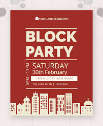 Block Party Flyers Templates 60 Sample Party Flyers Psd Free Premium Templates