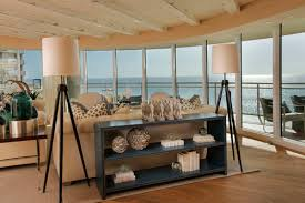 Beach Style Living Room Console Table Behind Couch Palquest