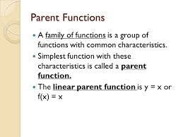 pa functions a family of functions is a group of functions with common characteristics 3 linear equation