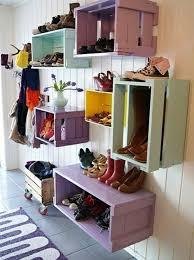 homemade furniture ideas. 27-AD-Corridor-design-homemade-shoe-racks-colorful- Homemade Furniture Ideas T