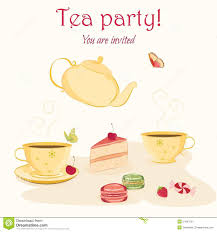 tea party invitation template stock vector image 51578938 elegant tea party invitation template teacups stock image