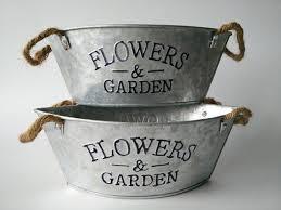 4Pcs/Lot Wholesale Vintage Planter Metal Planters with rope handle Flower  Pots for Sale Flowers&Garden