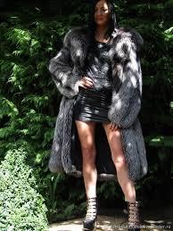 luxurious fur coat saga furs fox fur color platinum l