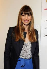 celebrity haircut jessica biel s perfectly even bangs