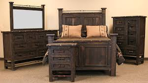 rustic king bedroom set. las piedras rustic bedroom set king
