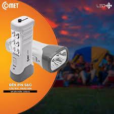 Đèn Pin Sạc LED Comet CRT831G - Hàng Chính Hãng