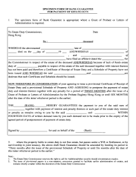Personal Guarantee Of Payment Forms And Templates - Fillable ...