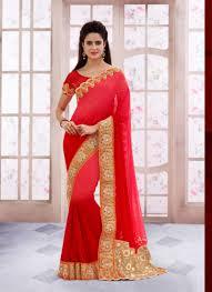Surat Designer Sarees Online Red Wholesale Designer Saree Supplier From Surat My Kinda
