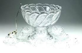 cut glass punch bowl with stand bowls brilliant on t star pattern