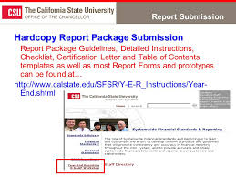 Required Sco Reports Year End Sco Report Requirements From A Csu