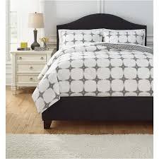 queen duvet cover set q707003q ashley furniture cyrun gray bedding comforter