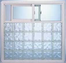 prefabricated vinyl frame glass block exterior window using 8 x 8 decora pattern pittsburgh