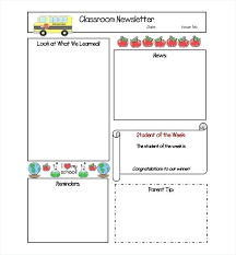 School Newsletter Template For Word Best 8 Free Newsletter Templates Word Documents Download Template