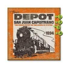 vine train depot personalized sign