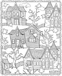 This is probably because kids are very familiar with the structure and various parts of a innovation with house coloring pages for preschoolers: Printable Halloween Coloring Pages For Adults Popsugar Smart Living