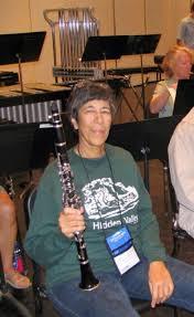 Adrienne with instrument