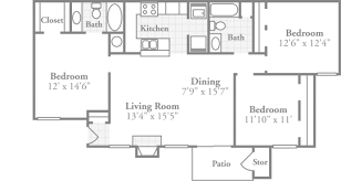 3 Bedroom Floor Plans Cool Design Inspiration