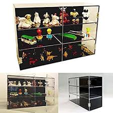 acrylic retail countertop display shelf double door adj