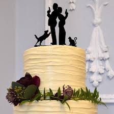 Wedding Cake Topper Creative Funny Humorous Secret Agent W Dog