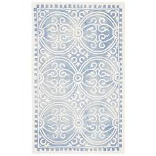 safavieh dip dye 3 x 5 hand tufted wool rug in blue and ivory ddy211m 3