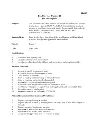 Mcdonalds Cashier Resume Mcdonalds Cashier Job Description For Resume Resumes Smart