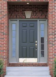 modern home main door design with dark gray wooden single door