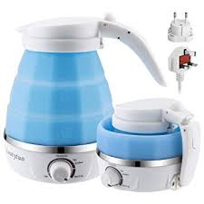 Upgraded Food Grade <b>Silicone</b> Travel Foldable <b>Electric</b> Kettle Boil ...