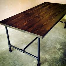 The Jerry Kitchen Table - Handmade Wood and Galvanized Pipe Dining room or  Kitchen Table.