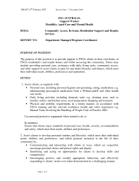 Aged Care Cover Letter Sample Resume For Aged Care Worker Sample