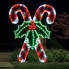 Outdoor Christmas Candy Cane Decorations Shop Holiday Lighting Specialists 6060ft Crossed Candy Canes 13