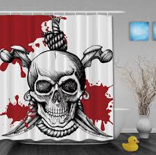 Skull Bedroom Curtains Popular Pirate Curtain Buy Cheap Pirate Curtain Lots From China