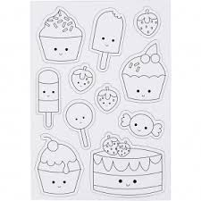 Creotime Magnetic Coloring Pages Ice Creams And Cupcakes 15x21 Cm