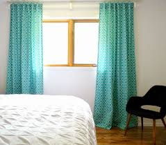 Turquoise Curtains For Living Room Remodelaholic Simple Sewn Back Tab Curtains