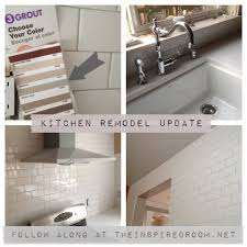 what color is my subway tile grout a kitchen remodel progress report