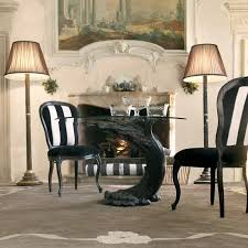 ebony italian pedestal round glass dining table set