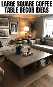 Shop our large coffee tables selection from the world's finest dealers on 1stdibs. Best Large Square Coffee Table Decor Ideas Farmhouse Decor Living Room Apartment Living Room Design Small Living Room Decor
