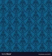 Seamless damask wallpaper 4 blue color ...