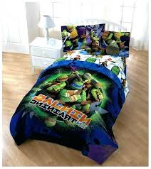 Teenage Mutant Ninja Turtle Bed Set Bedding Bedroom Turtles Queen ...