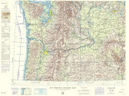 Topographical Map Columbia River Idaho Oregon Washington 1962 23 X 30 85