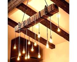 full size of diy reclaimed wood flooring planks beam chandelier faux wooden rustic light fixture with