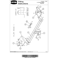 Witter vl34a fixed flange neck tow bar volvo s40 saloon volvo v40 estate 1996 ‹
