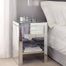 mirrored bedside furniture. DELUX GLASS MIRRORED BEDSIDE LAMP TABLE ONE DRAWER \u0026 SHELF BEDROOM FURNITURE Mirrored Bedside Furniture F