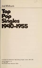 Billboard Charts 1955 Joel Whitburns Top Pop Singles 1940 1955 1973 Edition
