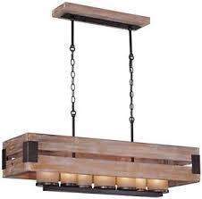 image is loading woodenrectangularchandelierhanginglightfixturerustic farmhouse rustic wooden light fixtures g46