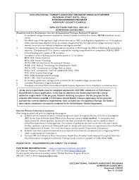 Occupational Therapist Resume Badak Pediatric Therapy Sample 738