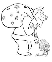 Disegni Gratis Masha Orso Con Disegni Da Colorare Masha E Orso E